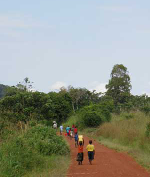 Red earth and forests mark the Gulu region of northern Uganda