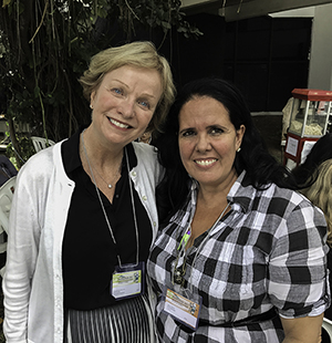 Associate Dean Deborah Dillon met with Cuban colleague Ana Sosa at the conference.