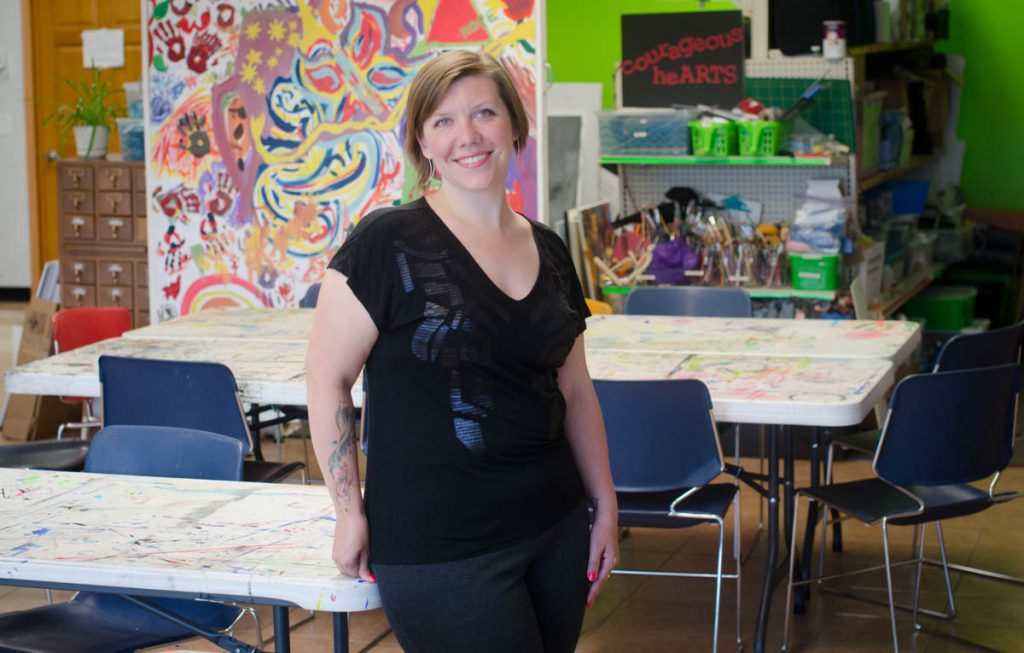 Bridge-collapse survivor Lindsay Walz, '13, creates space for art and healing