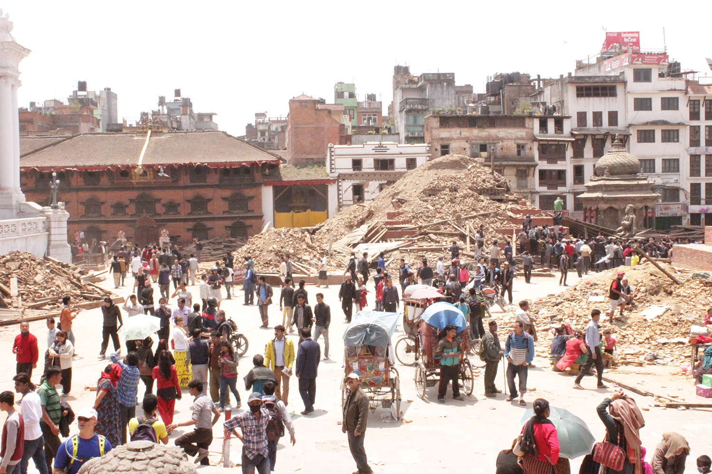 Temple ruins in Kathmandu