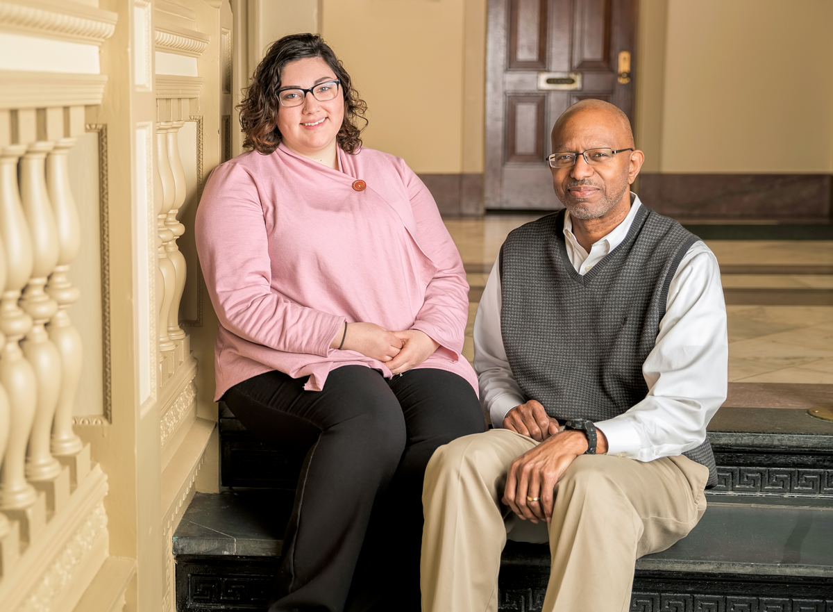 Photo: Scholarship recipients Emily Horton and Bill Woodson