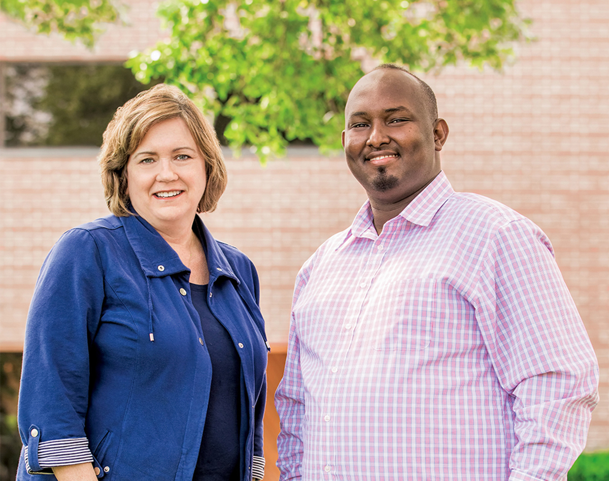 Social work professor Patricia Shannon and clinic founder Yussuf Shafie, M.S.W. '14, are driven to improve refugee mental health.