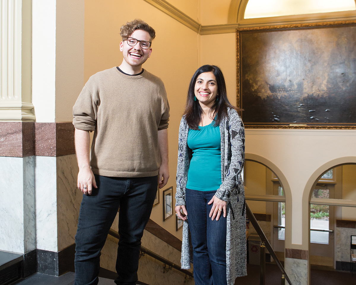 Troy Wildenberg and Professor Rashné Jehangir