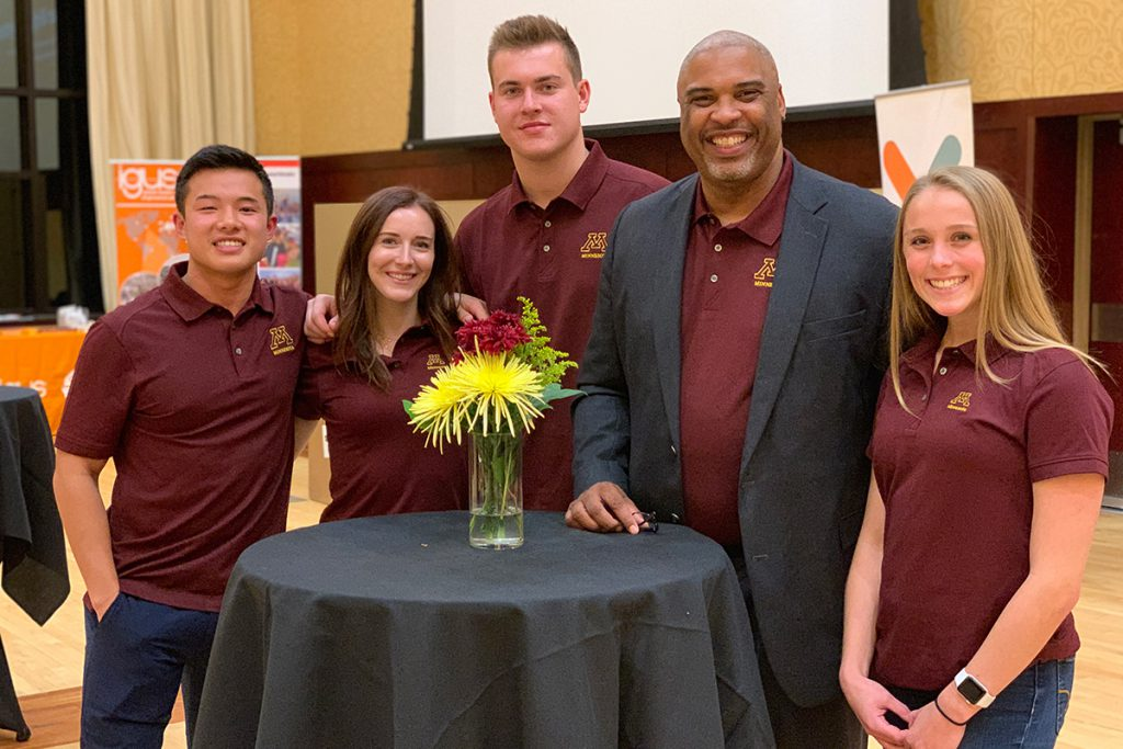 The U of M Sales team including Nick Carline, Alexandra Bump, Bryce Kelley, Todd Williams, and Taylor Guckeen