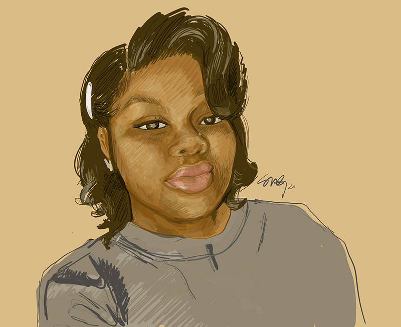 painting of Breonna Taylor by Stephanie Morrison Gandy