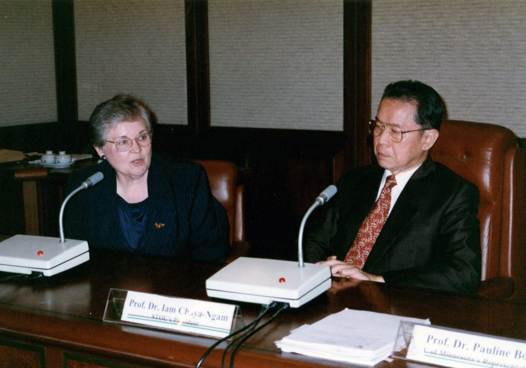 Jan Hogan and Iam Chaya-Ngam meeting