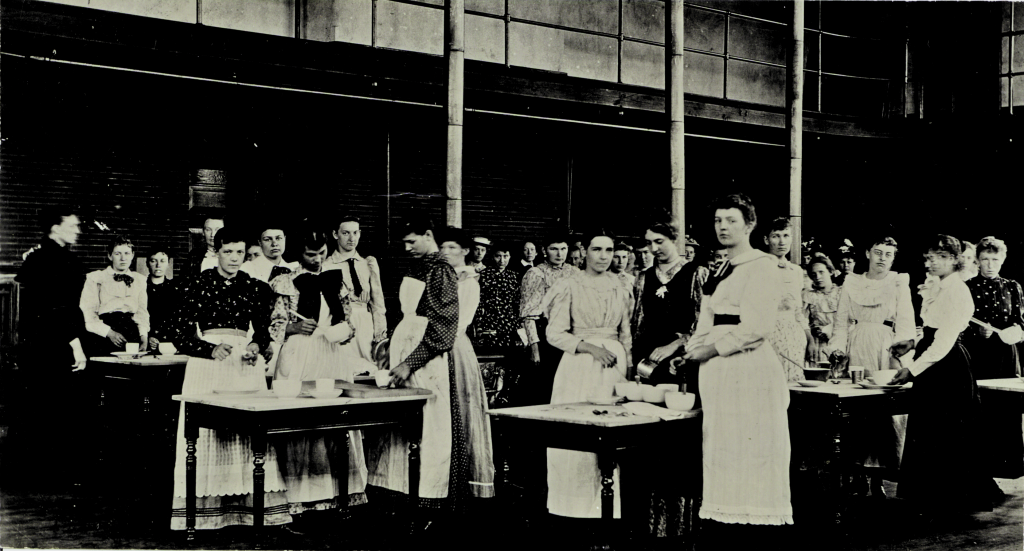 Old photo of Family Social Science Students