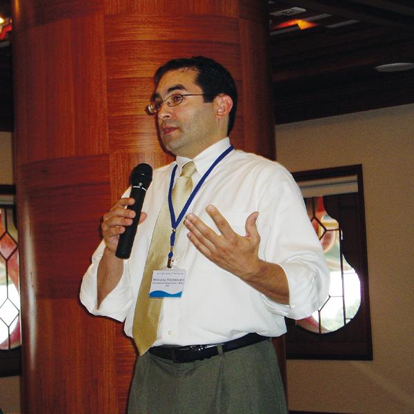 Michael C. Rodriguez talking