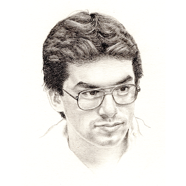 Sketch of a young Michael C. Rodriguez