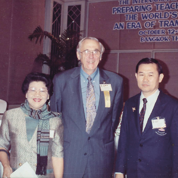 Dean William Gardner with two other people in Thailand