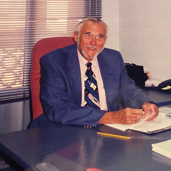 Dean William Gardner in his office